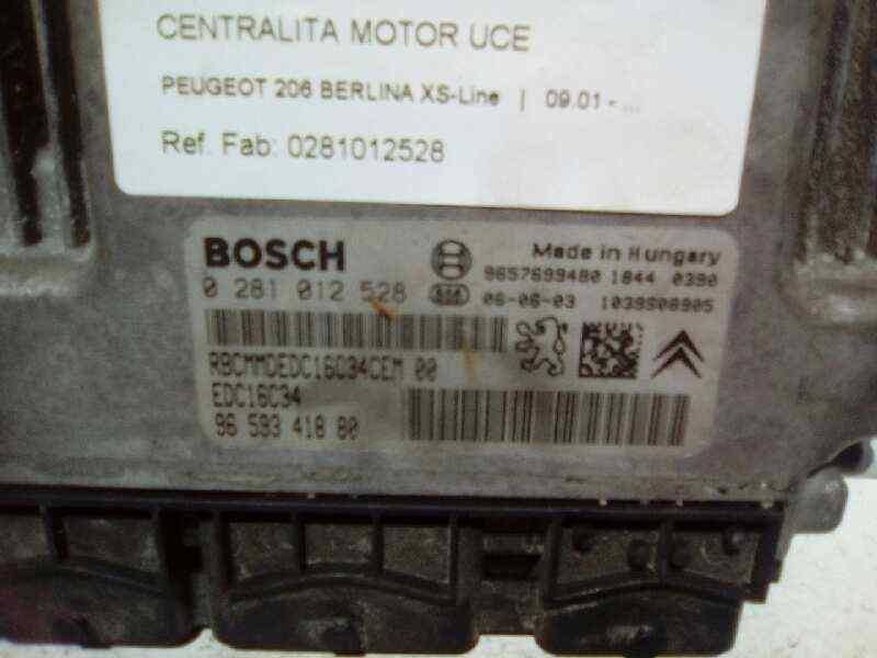 CENTRALITA MOTOR UCE PEUGEOT 206 BERLINA XS-Line  1.4 HDi (68 CV) |   09.01 - ..._img_0