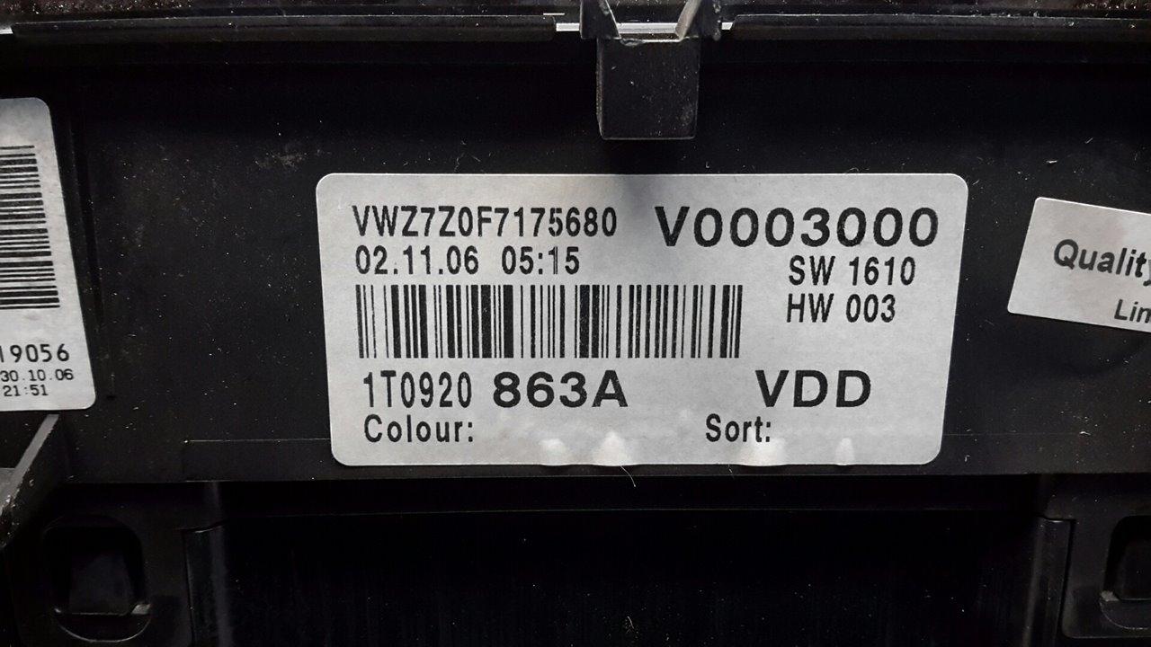 CUADRO INSTRUMENTOS VOLKSWAGEN CADDY KA/KB (2K) Furg.  1.9 TDI (BSU) (75 CV) |   09.05 - ..._img_1