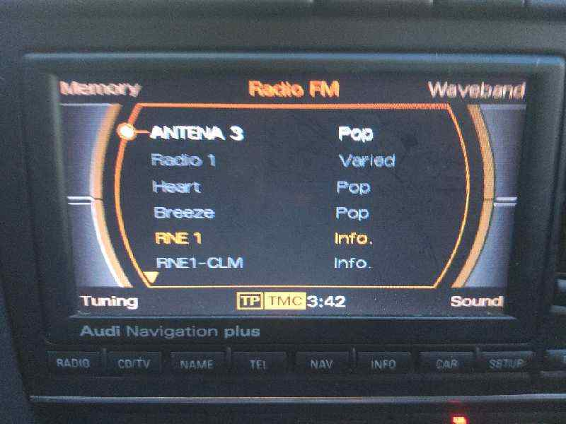 SISTEMA AUDIO / RADIO CD AUDI A4 AVANT (8E) 2.0 TDI   (140 CV) |   11.04 - 12.08_img_2