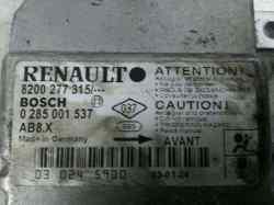 centralita airbag renault clio ii fase ii (b/cb0) authentique  1.2  (58 cv) 2001-2008 0285001537