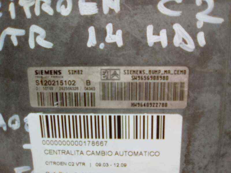 CENTRALITA CAMBIO AUTOMATICO CITROEN C2 VTR  1.4 HDi (68 CV) |   09.03 - 12.09_img_0
