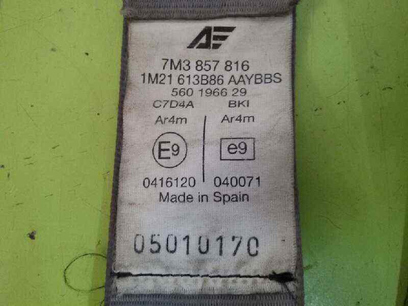 CINTURON SEGURIDAD TRASERO DERECHO VOLKSWAGEN SHARAN (7M6/7M9) V6 Highline 4Motion  2.8 V6 24V (204 CV) |   04.00 - 12.03_img_1