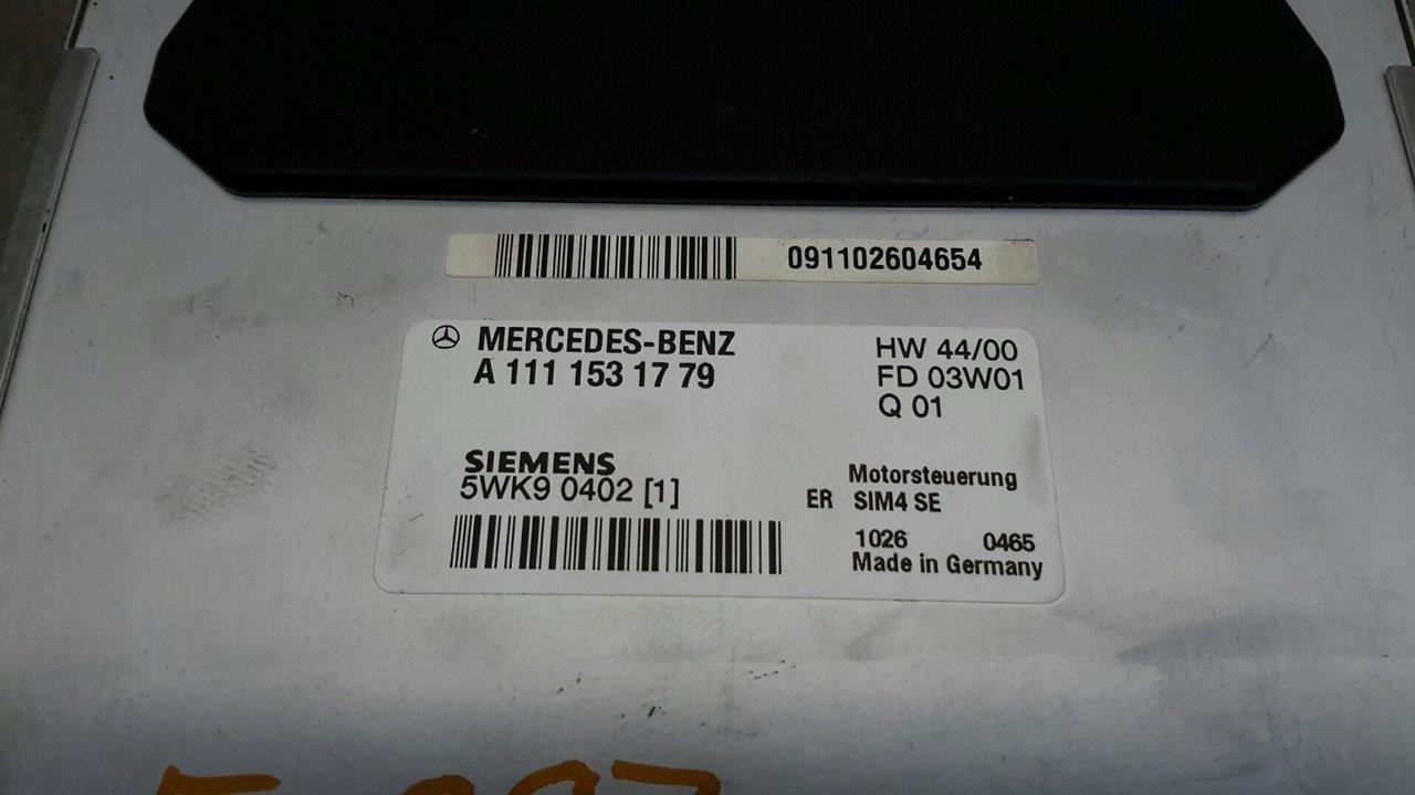 CENTRALITA MOTOR UCE MERCEDES CLASE C (W203) SPORTCOUPE C 180 (203.735)  2.0 CAT (129 CV)     10.00 - 12.02_img_3