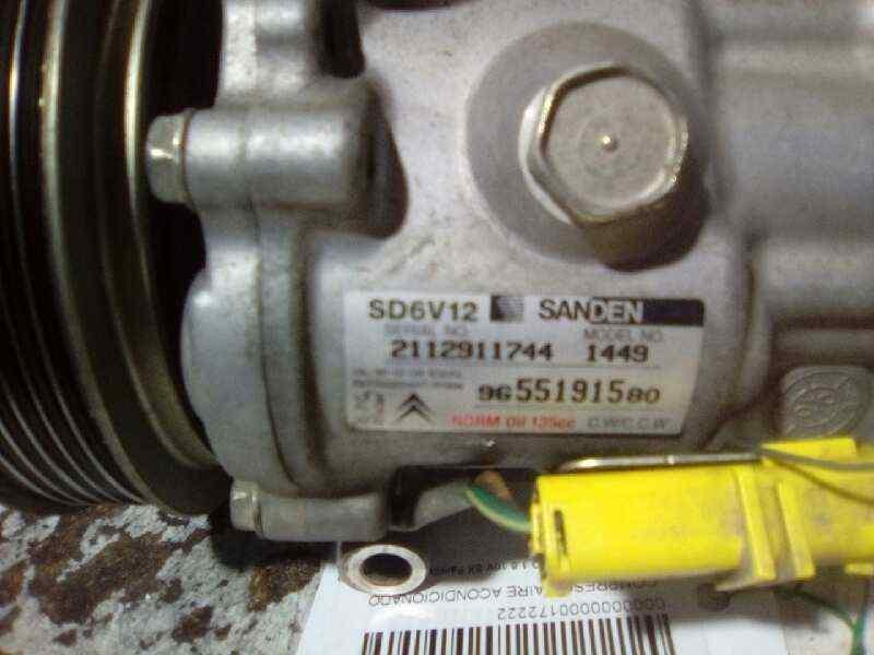 COMPRESOR AIRE ACONDICIONADO CITROEN BERLINGO 1.6 16V SX Familiar   (109 CV) |   10.02 - 12.05_img_1