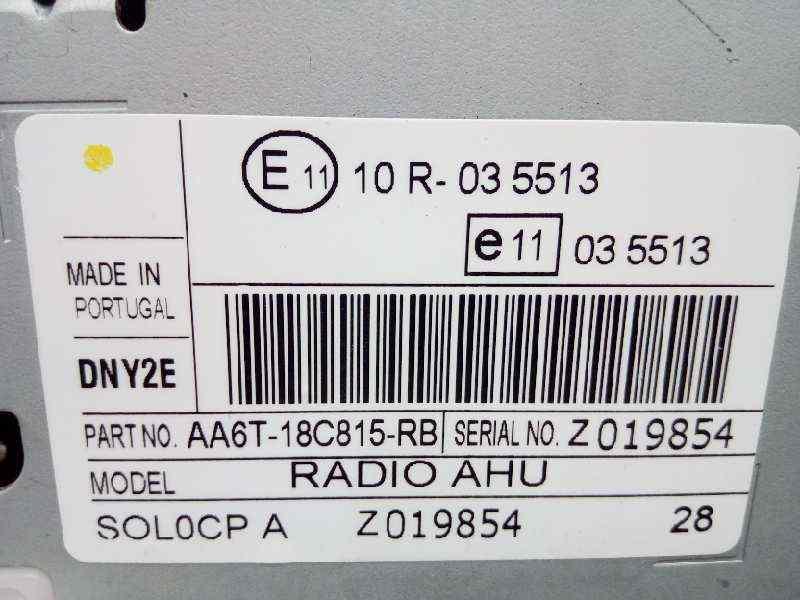 SISTEMA AUDIO / RADIO CD FORD FIESTA (CB1) Titanium  1.6 TDCi CAT (95 CV) |   01.10 - ..._img_1