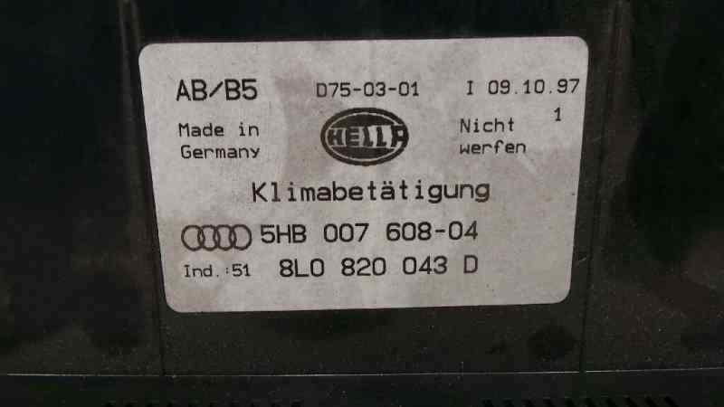 MANDO CLIMATIZADOR AUDI A3 (8L) 1.9 TDI Ambiente   (110 CV) |   12.96 - 12.02_img_2