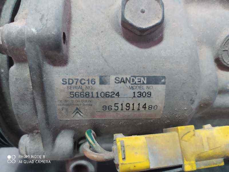 COMPRESOR AIRE ACONDICIONADO PEUGEOT 307 BREAK/SW (S2) SW  1.6 16V HDi (90 CV)     06.05 - 12.07_img_3