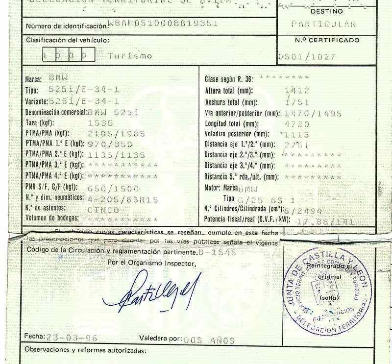 AMORTIGUADORES MALETERO / PORTON BMW SERIE 5 BERLINA (E34) 525i (141kW)  2.5 24V (192 CV) |   03.90 - ..._img_4