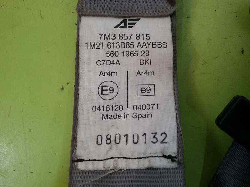 CINTURON SEGURIDAD TRASERO IZQUIERDO VOLKSWAGEN SHARAN (7M6/7M9) V6 Highline 4Motion  2.8 V6 24V (204 CV)     04.00 - 12.03_img_2