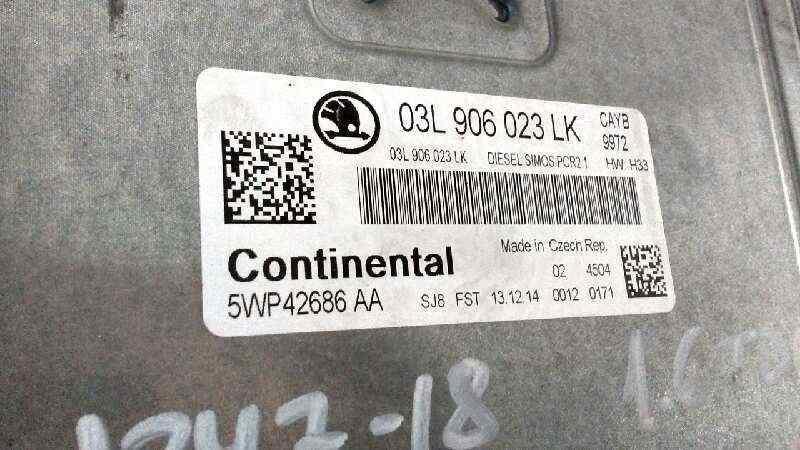 CENTRALITA MOTOR UCE SKODA SPACEBACK (5H) Elegance  1.6 TDI (90 CV) |   09.13 - 12.15_img_1