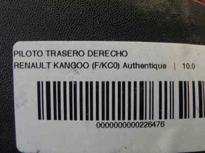 PILOTO TRASERO DERECHO RENAULT KANGOO (F/KC0) 1.5 dCi Diesel   (65 CV) |   0.97 - ..._img_1