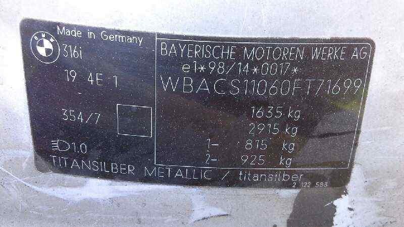 NEUMATICO BMW SERIE 3 COMPACTO (E36) 316i  1.9 CAT (105 CV) |   03.99 - 12.01_img_5