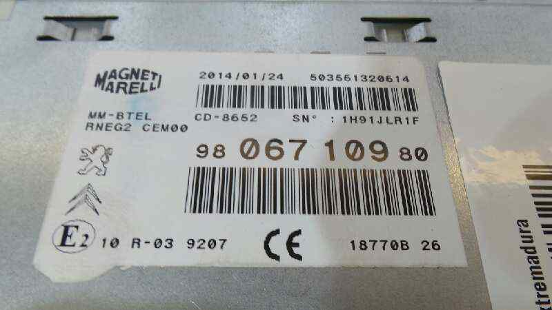 SISTEMA AUDIO / RADIO CD PEUGEOT 508 SW GT  2.2 HDi FAP CAT (4HL / DW12C) (204 CV) |   01.11 - 12.15_img_3