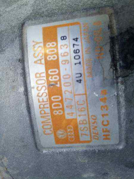 COMPRESOR AIRE ACONDICIONADO VOLKSWAGEN PASSAT BERLINA (3B2) Comfortline  1.9 TDI (116 CV)     05.98 - 12.00_img_3