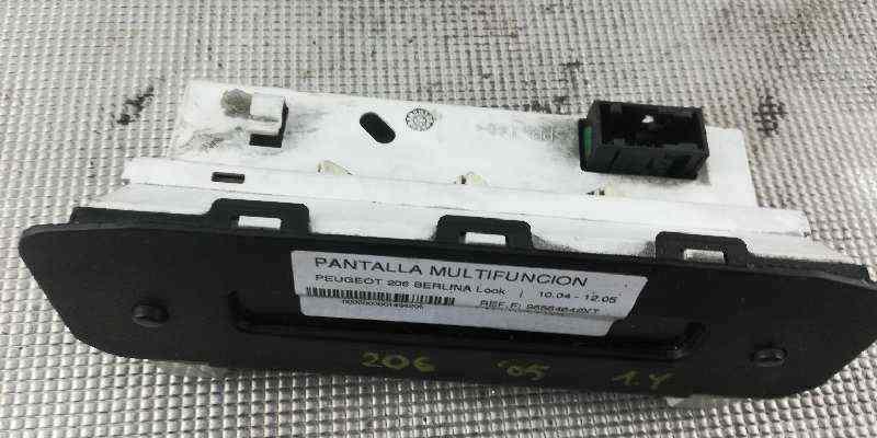 PANTALLA MULTIFUNCION PEUGEOT 206 BERLINA Look  1.4 HDi (68 CV) |   10.04 - 12.05_img_1