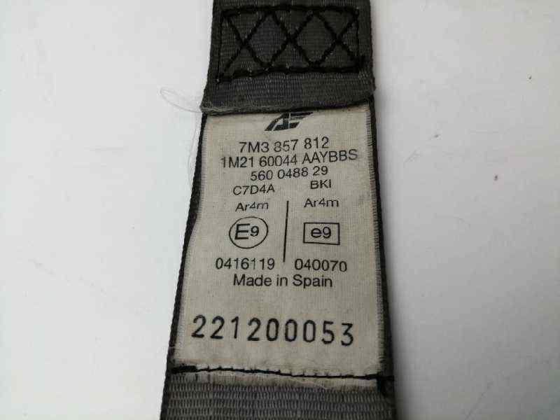 CINTURON SEGURIDAD TRASERO DERECHO VOLKSWAGEN SHARAN (7M6/7M9) V6 Highline 4Motion  2.8 V6 24V (204 CV) |   04.00 - 12.03_img_3