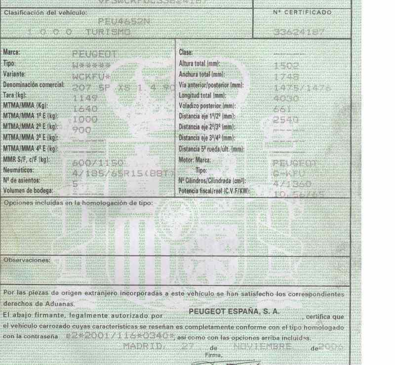CAJA RELES / FUSIBLES PEUGEOT 207 XS  1.4 16V CAT (KFU / ET3J4) (88 CV) |   05.06 - 12.07_img_3
