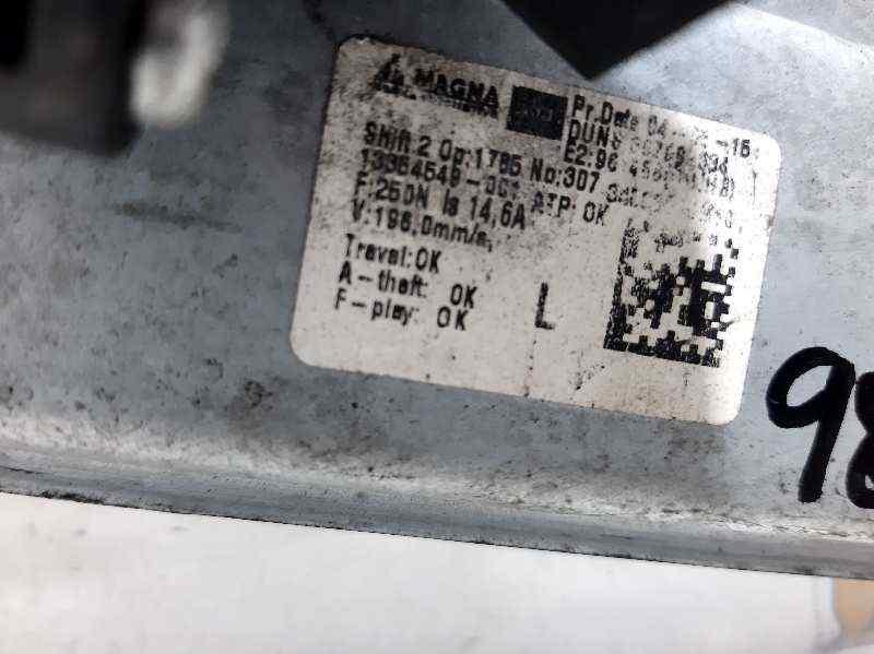 ELEVALUNAS TRASERO IZQUIERDO OPEL MERIVA B Selective  1.4 16V Turbo (bivalent. Gasolina / LPG) (120 CV)     01.12 - 12.15_img_1