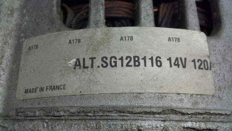 ALTERNADOR NISSAN ALMERA (N16/E) Acenta  1.5 dCi Turbodiesel CAT (82 CV)     12.02 - 12.04_img_3
