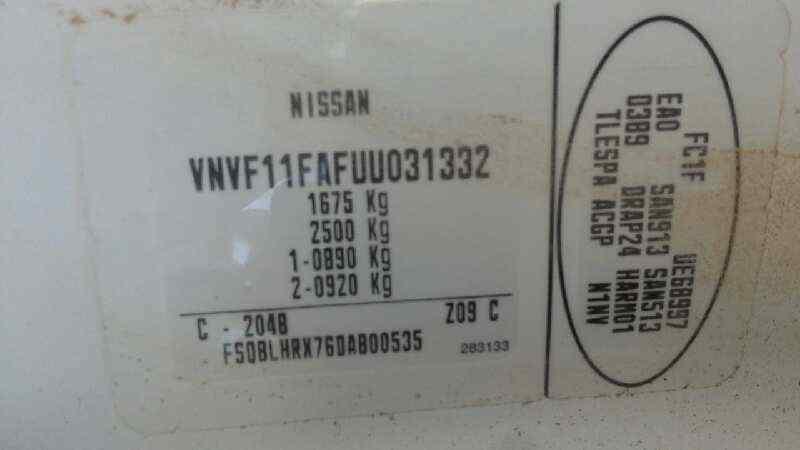 FARO IZQUIERDO NISSAN KUBISTAR (X76) Pro (L1)  1.5 dCi Turbodiesel CAT (61 CV) |   02.07 - ..._img_5