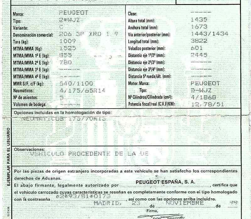 PUENTE TRASERO PEUGEOT 206 BERLINA XR  1.9 Diesel (69 CV) |   06.98 - 12.02_img_5