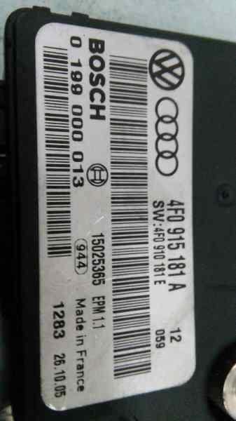 MODULO ELECTRONICO AUDI A6 BERLINA (4F2) 2.0 TDI   (140 CV) |   03.04 - 12.08_img_1