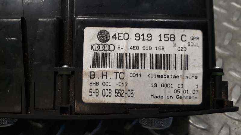 MANDO CLIMATIZADOR AUDI A8 (4E2) 3.0 TDI Quattro   (233 CV) |   11.03 - 12.10_img_2