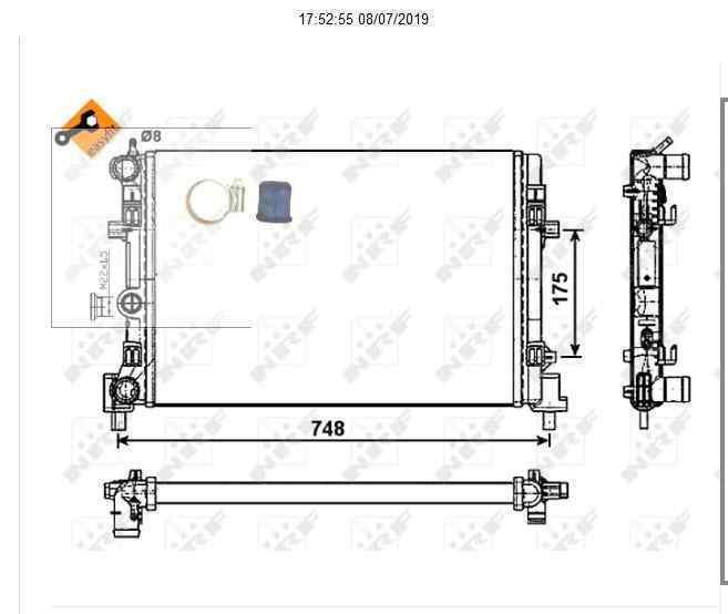 RADIADOR AGUA SEAT IBIZA (6J5) Style I-Tech 30 Aniversario  1.6 TDI (105 CV) |   05.14 - 12.15_img_2