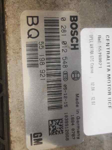 CENTRALITA MOTOR UCE OPEL ASTRA GTC Cosmo  1.9 CDTI (120 CV)     12.04 - 12.07_img_1