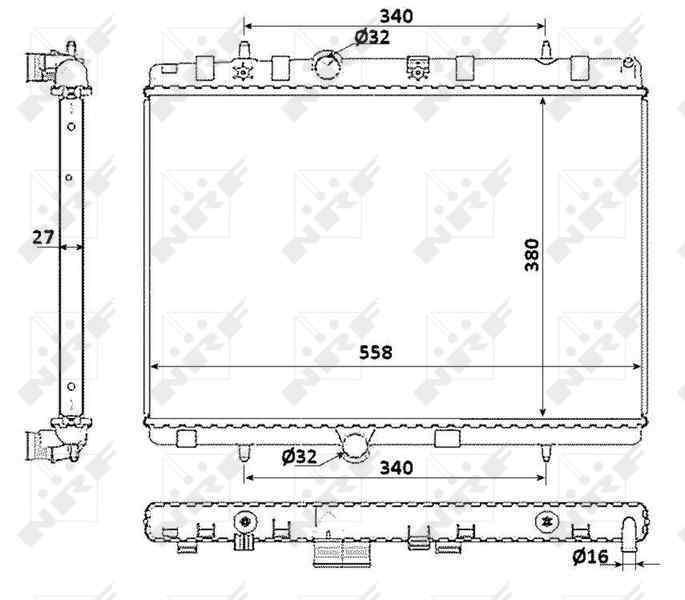 RADIADOR AGUA CITROEN DS3 Techno Style  1.6 e-HDi FAP (92 CV) |   07.14 - 12.15_img_2