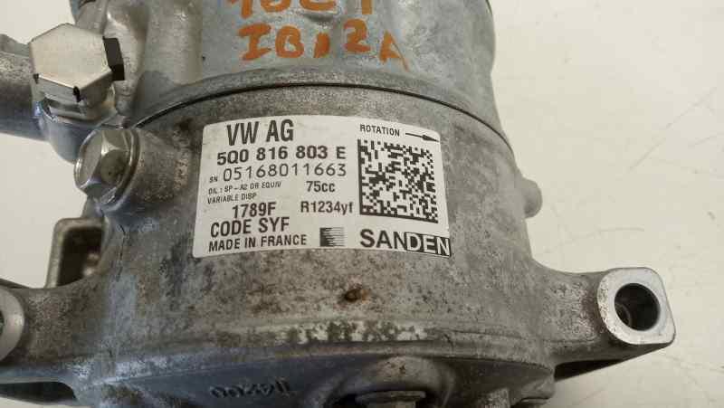 COMPRESOR AIRE ACONDICIONADO SEAT IBIZA SC (6P5)(05.2015->) FR Crono  1.0 TSI (110 CV) |   ..._img_2