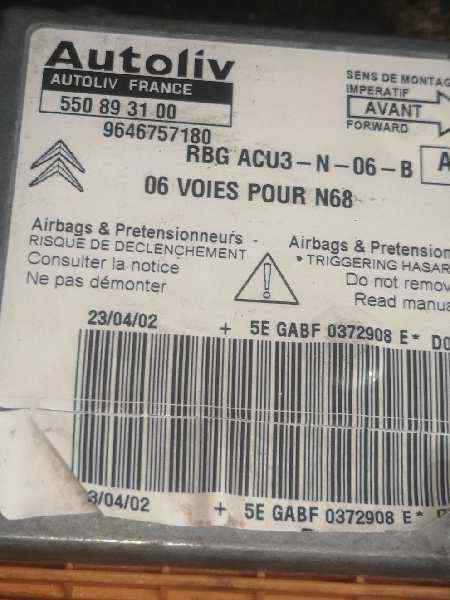 CENTRALITA AIRBAG CITROEN XSARA PICASSO 2.0 HDi Exclusive   (90 CV) |   09.01 - 12.05_img_1