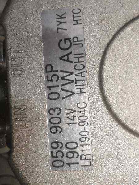 ALTERNADOR VOLKSWAGEN TOUAREG (7L6) TDI V6 +Motion  3.0 V6 TDI DPF (239 CV) |   10.07 - 12.10_img_3