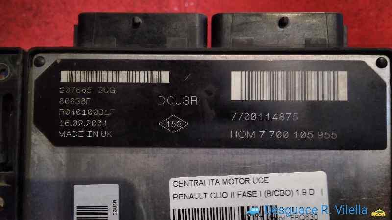 CENTRALITA MOTOR UCE RENAULT CLIO II FASE I (B/CBO) 1.9 D   (64 CV) |   0.98 - ..._img_2
