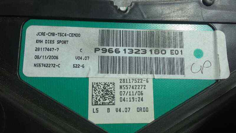 CUADRO INSTRUMENTOS PEUGEOT 307 (S1) XR Clim Plus  1.6 HDi (109 CV) |   07.04 - 12.05_img_1