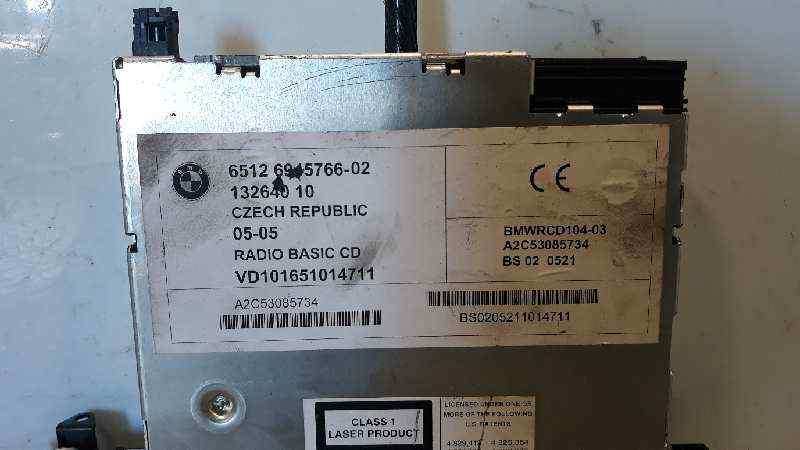 SISTEMA AUDIO / RADIO CD BMW SERIE X3 (E83) 3.0d   (204 CV) |   09.03 - 12.06_img_2