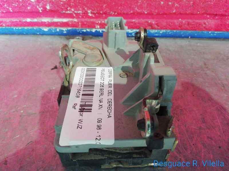CERRADURA PUERTA DELANTERA DERECHA PEUGEOT 206 BERLINA XN  1.9 Diesel (69 CV)     09.98 - 12.02_img_1