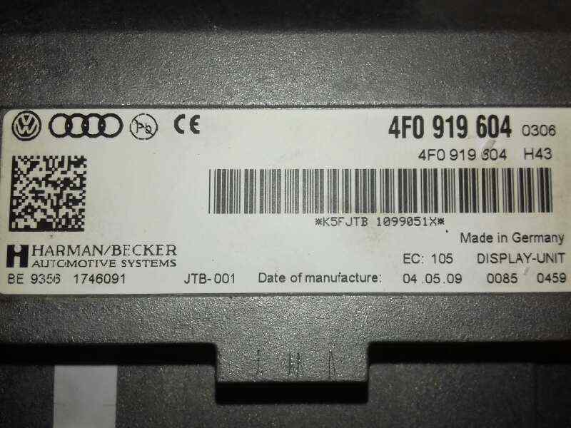PANTALLA MULTIFUNCION AUDI A6 BERLINA (4F2) 2.7 TDI   (190 CV) |   09.08 - 12.10_img_2