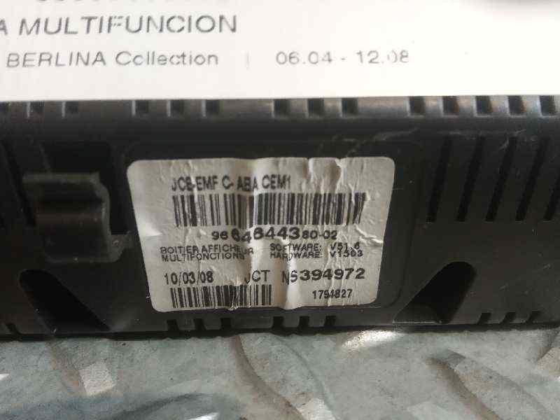 PANTALLA MULTIFUNCION CITROEN C4 BERLINA Collection  1.6 16V HDi (90 CV) |   06.04 - 12.08_img_2