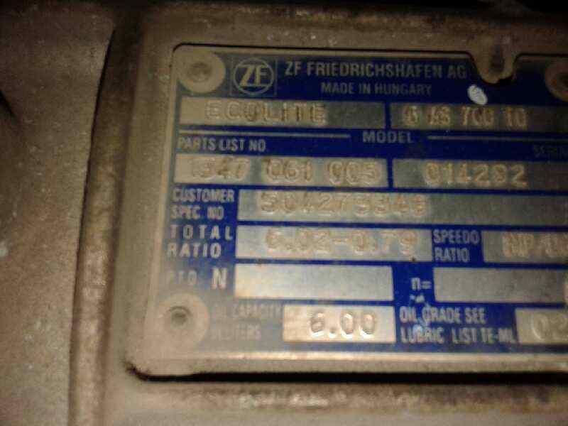CAJA CAMBIOS IVECO  EUROCARGO TECTOR ML140E22 '0 EUROCARGO TECTOR _img_0