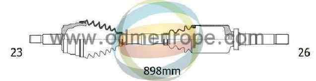 TRANSMISION DELANTERA DERECHA RENAULT CLIO III Confort Dynamique  1.4 16V (98 CV) |   09.05 - 12.06_img_0