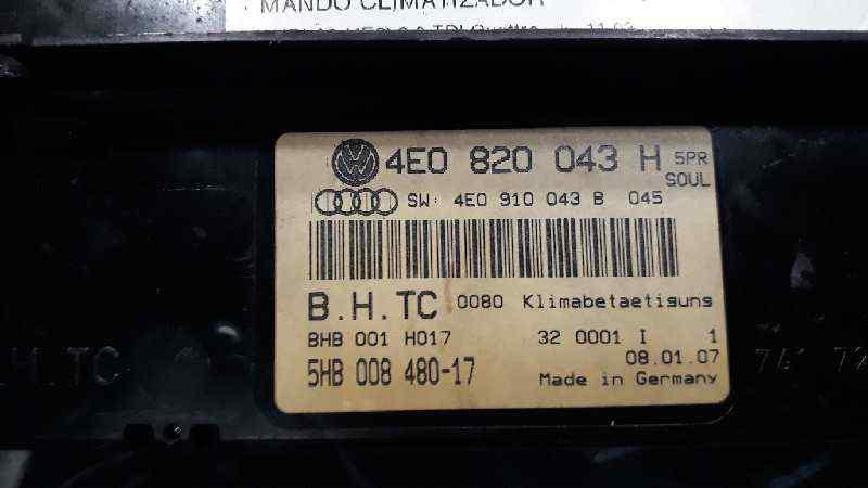 MANDO CLIMATIZADOR AUDI A8 (4E2) 3.0 TDI Quattro   (233 CV)     11.03 - 12.10_img_1