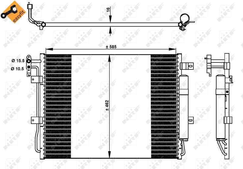 CONDENSADOR / RADIADOR  AIRE ACONDICIONADO LAND ROVER DISCOVERY 4 TDV6 SE  3.0 TD V6 CAT (211 CV)     ..._img_2