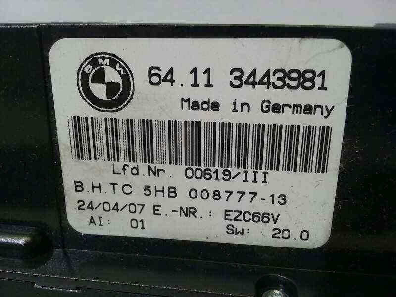 MANDO CLIMATIZADOR BMW SERIE X3 (E83) 2.0d   (150 CV) |   09.04 - 12.07_img_0