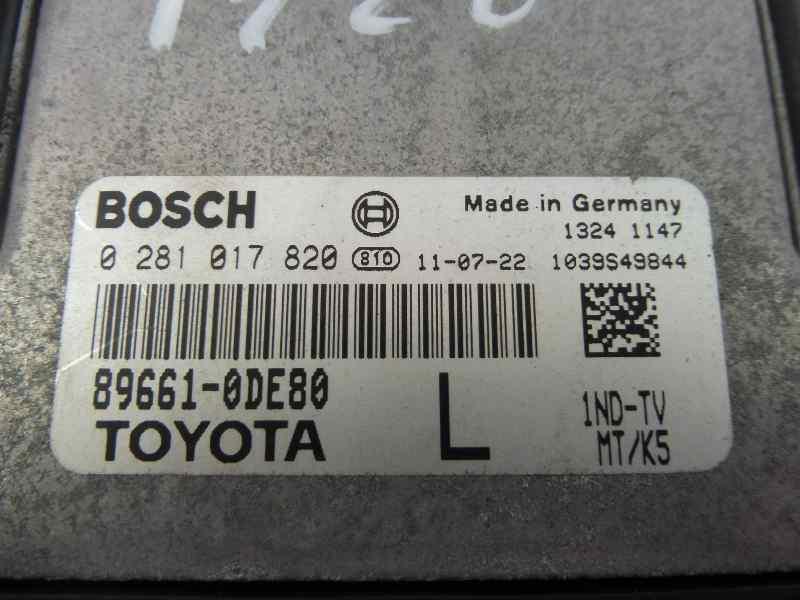 CENTRALITA MOTOR UCE TOYOTA YARIS TS  1.4 Turbodiesel CAT (90 CV) |   11.08 - 12.10_img_1
