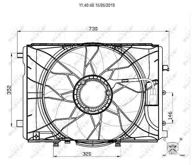ELECTROVENTILADOR MERCEDES CLASE CLA (W117) CLA 180 (117.342)  1.6 CAT (122 CV)     01.13 - 12.19_img_2