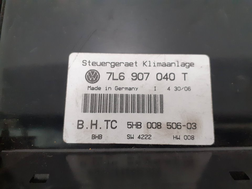 MANDO CLIMATIZADOR VOLKSWAGEN TOUAREG (7L6) V6 TDI  3.0 V6 TDI DPF (224 CV) |   12.06 - 12.08_img_2