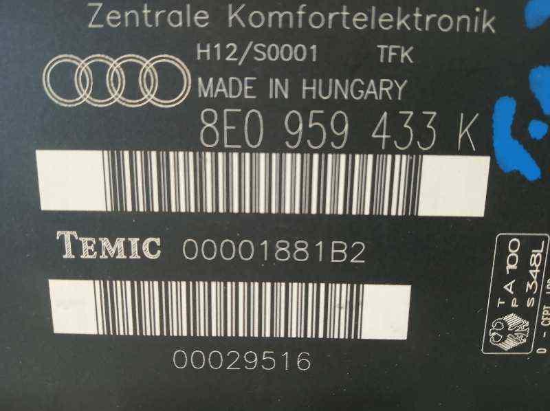 MODULO CONFORT AUDI A4 BERLINA (8E) 1.9 TDI (96kW)   (131 CV) |   12.00 - 12.04_img_2