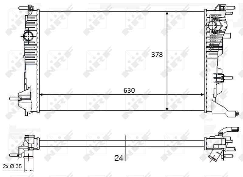 RADIADOR AGUA RENAULT MEGANE III BERLINA 5 P Expression  1.5 dCi Diesel FAP (110 CV)     05.10 - 12.15_img_2