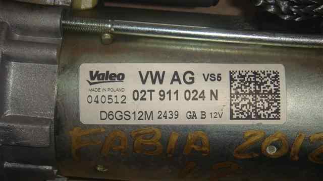 MOTOR ARRANQUE SKODA FABIA (5J2 ) Active  1.2  (60 CV) |   10.11 - 12.15_img_2